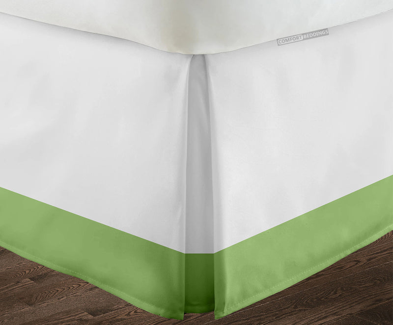 600TC Two Tone Sage with White bed skirt