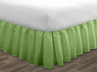 600 TC Sage ruffle bed skirt