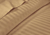 Wrinkle Free Taupe Stripe RV Sheet Set