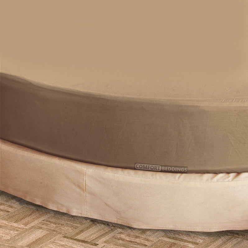 Luxury taupe round Sheet Set