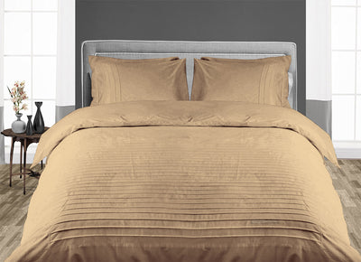 Luxurious Taupe Moroccan Streak Duvet Cover And Pillowcases