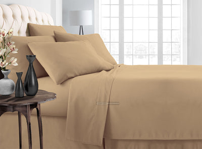 taupe bed in a bag