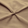 Egyptian cotton made Taupe pinch pleated bed skirt