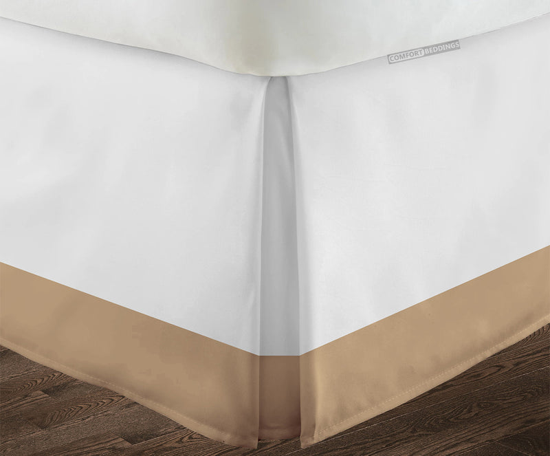 Top selling Taupe two tone bed skirt