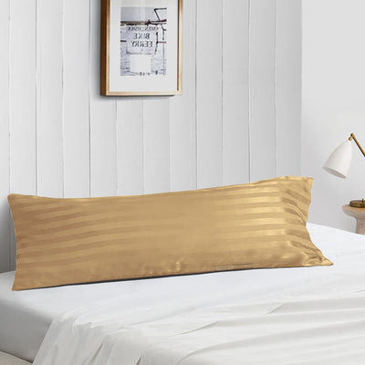 Most Selling Taupe striped Body Pillow Case
