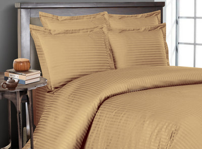 Taupe Striped Bedding In a Bag
