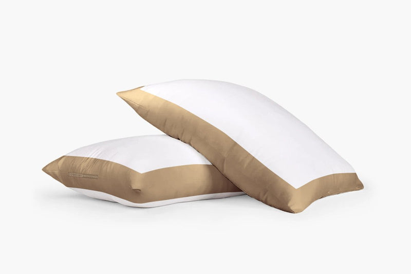 100% Egyptian cotton Taupe and white two tone Pillow Cases