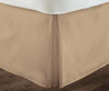 1000 Thread count Taupe pleated bed skirt