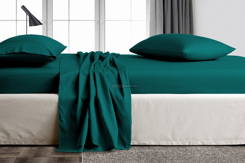 teal king size sheets
