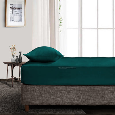 1000TC Teal King Fitted Sheet