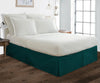 600 Thread count teal pleated bed skirt