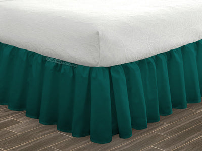Egyptian Cotton Made Teal Ruffled Bed Skirt