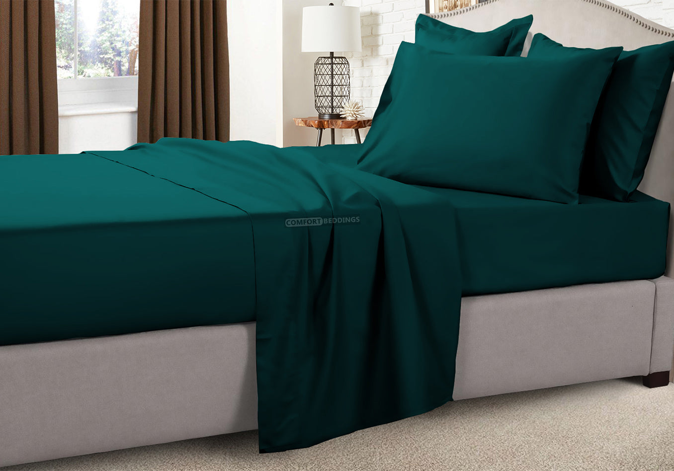 teal camper sheets