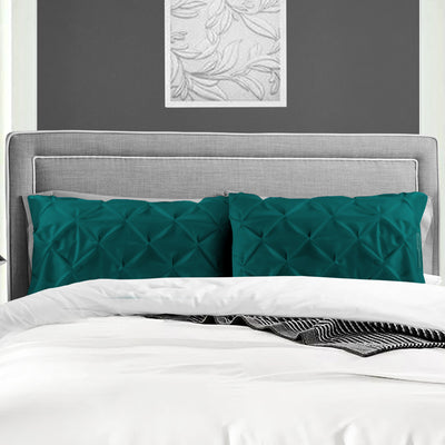 Soft Egyptian cotton Teal pinch Pillow Cases