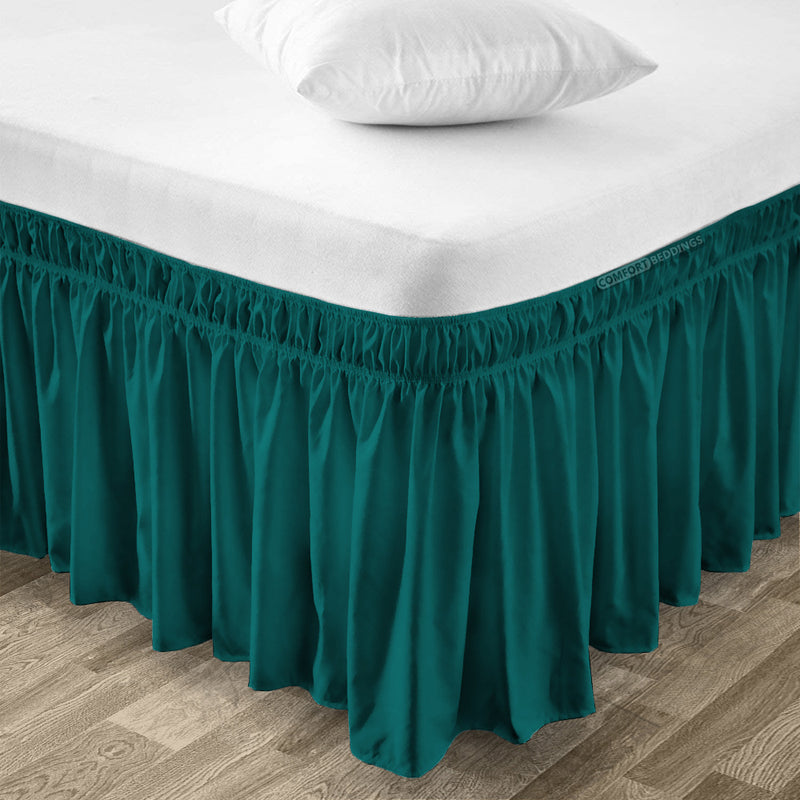 Essential Teal Wrap Around bed skirt