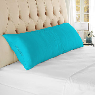 100% Egyptian Cotton Turquoise Blue Body Pillow CoverS