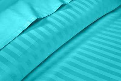 Most Selling Turquoise blue stripe pillowcases