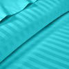Classy Turquoise Blue Striped Duvet Cover Set