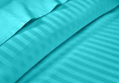 Luxurious Turquoise Blue Stripe RV Sheet Set