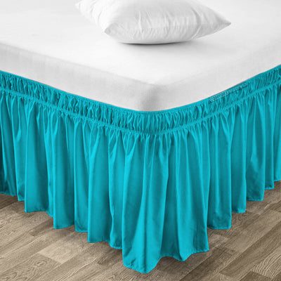 Classy Turquoise Wrap Around bed skirt
