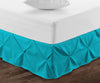 600 TC Turquoise pinch pleated bed skirt