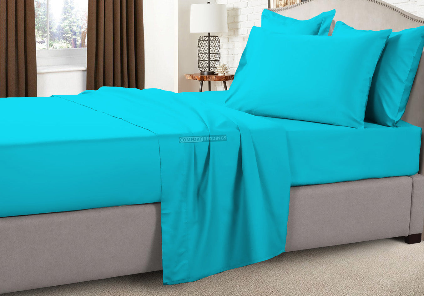 Soft turquoise blue Camper Bunk Sheets