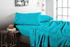 Luxury Turquoise Blue Flat Sheet - Egyptian Cotton Made