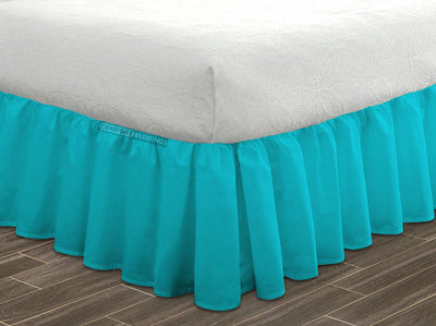 Top Quality Turquoise Ruffled Bed Skirt