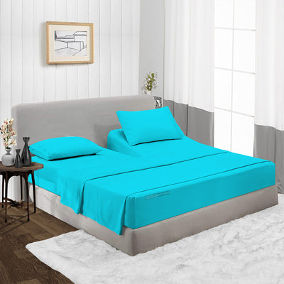 Turquoise split head sheets Set - 600TC