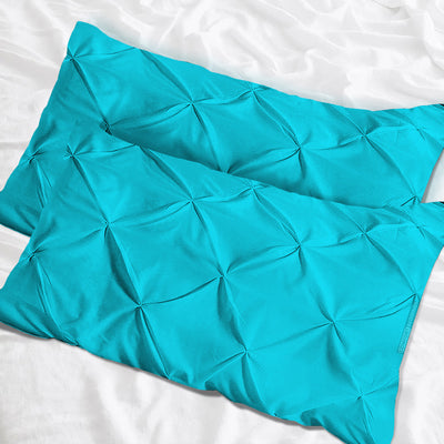 Top quality  turquiose blue pinch pillow cases