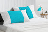 Elegant turquiose blue - white contrast pillowcases