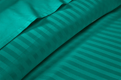 Most Selling Turquoise Green Striped Sheet Set