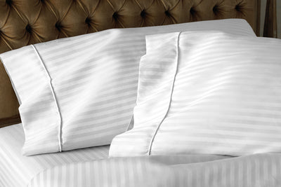 Top Quality white striped pillow cases