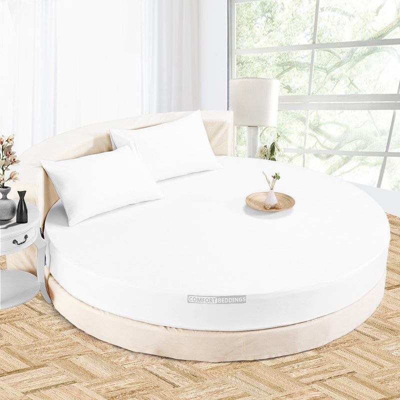 Luxury White round Sheet Set