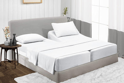 Wrinkle Free White RV Camper Bunk Sheets
