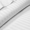 100% Egyptian Cotton White Striped Fitted Sheets