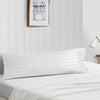 Essential striped white body pillow cover