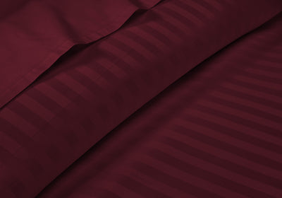 Luxurious Wine Stripe RV Sheet Set