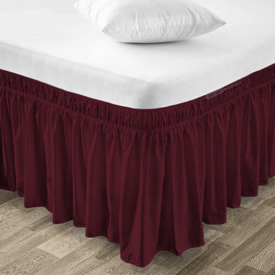 Top Selling Wine Wrap Around bed skirt