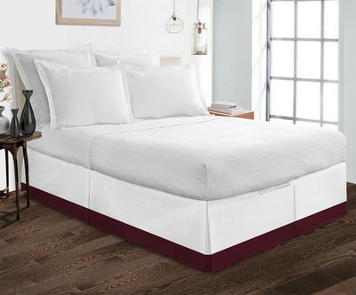 Top selling Wine White two tone bed skirt