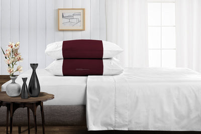 Classy wine - white contrast pillowcases