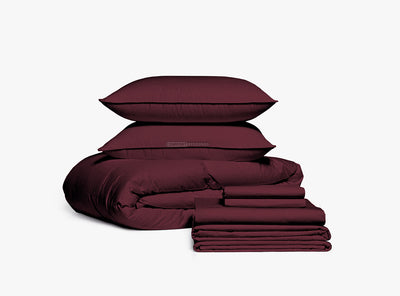 Brand New Wine Bedding In a Bag Set