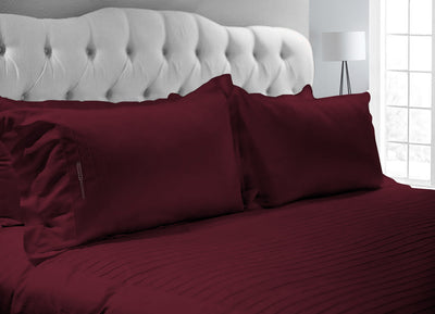 Luxurious Wine 600 TC Moroccan Streak Duvet Cover