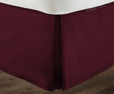 Supreme Quality Wine pleated bed skirt