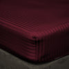 Wine stripe Fitted Sheets - 600TC Egyptian Cotton