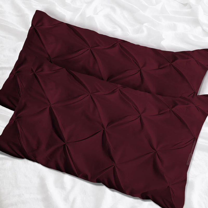 Beautiful wine pinch pillow cases