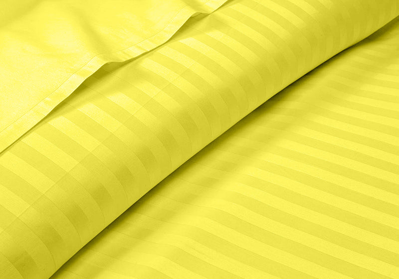100% Egyptian Cotton Yellow Stripe RV Sheet Set