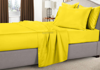 Egyptian Cotton Yellow Camper Sheets