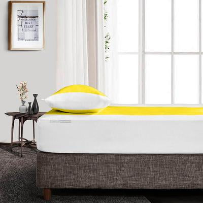 Yellow - White Contrast Fitted Sheets