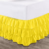 Luxury 600TC Yellow Multi Ruffled Bed Skirt
